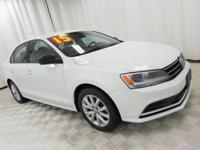 2015 Volkswagen Jetta 1.8T SE Pure White Priced below