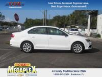 This 2015 Volkswagen Jetta 1.8T SE in White is well