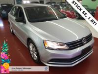 2015 1.8T JETTA SE, STICK SHIFT TURBO!! CERTIFIED FOR