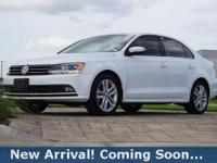 2015 Volkswagen Jetta 1.8T SEL in Pure White, This