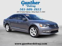 2015 Volkswagen Passat SE with Sunroof and Navigation.