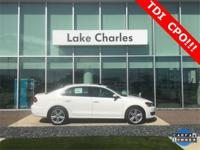 VW CERTIFIED, ONE OWNER PASSAT TDI LOADED WITH