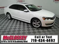 Powerful and luxurious 2015 Volkswagen Passat SEL