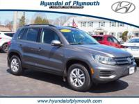 AWD. Clean CARFAX. Gray 2015 Volkswagen Tiguan 4Motion