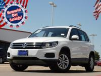 2015 Volkswagen Tiguan Pure White 6-Speed Automatic