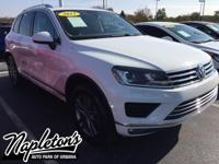 Recent Arrival! 2015 Volkswagen Touareg in White, AUX