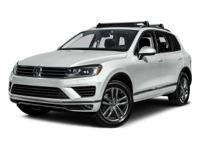 Options:  2015 Volkswagen Touareg Executive|Black Oak