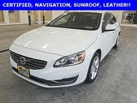 Certified! CARFAX One-Owner. 2015 Volvo S60 T5 Premier
