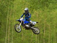 the YZ85 is prepared to race and features a high