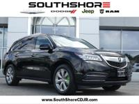 Clean CARFAX. 2015 Acura MDX 3.5L Advance Pkg