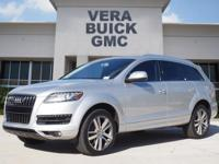 This Ice Silver Metallic 2015 Audi Q7 3.0T Premium Plus