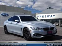 Glacier Silver Metallic 2015 BMW 4 Series 435i xDrive