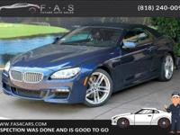 Meet our One Owner 2015 BMW 650i Convertible in sleek