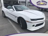 Recent Arrival! CARFAX One-Owner. 2015 Chevrolet Camaro