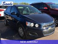 Clean CARFAX. Blue Velvet Metallic 2015 Chevrolet Sonic