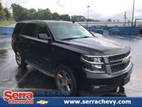 CARFAX One-Owner. Black 2015 Chevrolet Tahoe LT RWD
