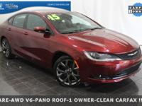 **2015 Chrysler 200 S AWD V6**, ONE OWNER-CLEAN CARFAX
