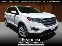 New Price! Clean CARFAX. Oxford White 2015 Ford Edge