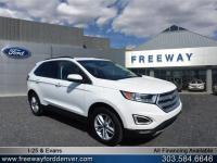 White Platinum Metallic Tri-Coat 2015 Ford Edge SEL AWD