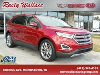 Red 2015 Ford Edge Titanium AWD 6-Speed Automatic with