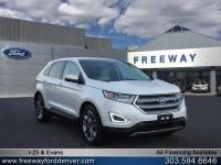 White Platinum Metallic Tri-Coat 2015 Ford Edge