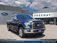 Blue Jeans Metallic 2015 Ford F-150 XLT 4WD 6-Speed