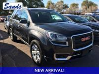 Clean CARFAX. Iridium Metallic 2015 GMC Acadia SLE-1
