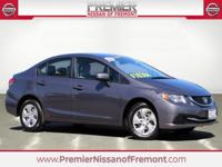 CARFAX One Owner. 2015 Honda Civic LX FWD CVT 1.8L I4