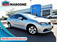 Gray w/Cloth Seat Trim. 2015 Honda Civic LX 1.8L I4