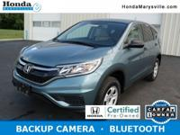 2015 Honda Cr-v LX HONDA CERTIFIED! CARFAX VERIFIED 1
