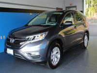 CARFAX One-Owner. Clean CARFAX. Gray 2015 Honda CR-V