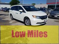 CARFAX One-Owner. White 2015 Honda Odyssey EX-L FWD