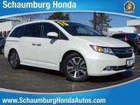 CARFAX One-Owner. 2015 Honda FWD Odyssey Touring White