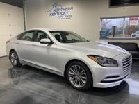 This 2015 Hyundai Genesis has a 3.8 liter V6 engine,