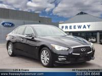 Black Obsidian 2015 INFINITI Q50 AWD 7-Speed Automatic