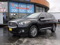 Solid and stately, this 2015 INFINITI QX60 turns even