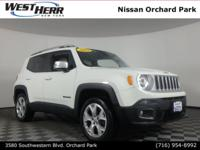 New Price! 2015 Jeep Renegade Limited Alpine White