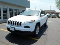 New Price! Bright White Clearcoat 2015 Jeep Cherokee