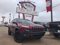 New Price! 2015 Jeep Cherokee Trailhawk Cherry Red