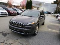 We are excited to offer this 2015 Jeep Cherokee. CARFAX