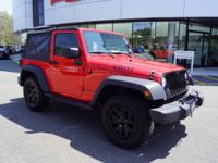 Clean CARFAX. Firecracker Red Clear Coat 2015 Jeep