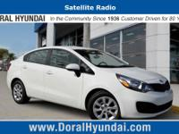 This front wheel drive used 2015 Kia Rio LX features a