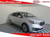 This 2015 Kia Sedona SXL is a One Owner! Kia Certified