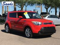 CARFAX One-Owner. Inferno Red 2015 Kia Soul Plus FWD