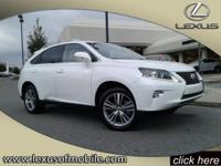 You'll love this Starfire Pearl 2015 Lexus RX 350. This