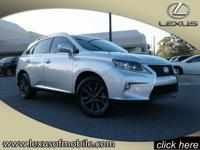 You'll love this 2015 Lexus RX 350 F-Sport. This RX 350