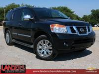 Clean CARFAX. Magnetic Black 2015 Nissan Armada SV 4WD