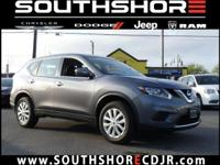 CARFAX One-Owner. 2015 Nissan Rogue S Gun Metallic