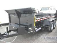 Trailer Weight 3600lbs, Dual Ram Dump, LED Lights, 2
