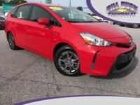 2015 Toyota Prius v Three in Absolutely Red features a